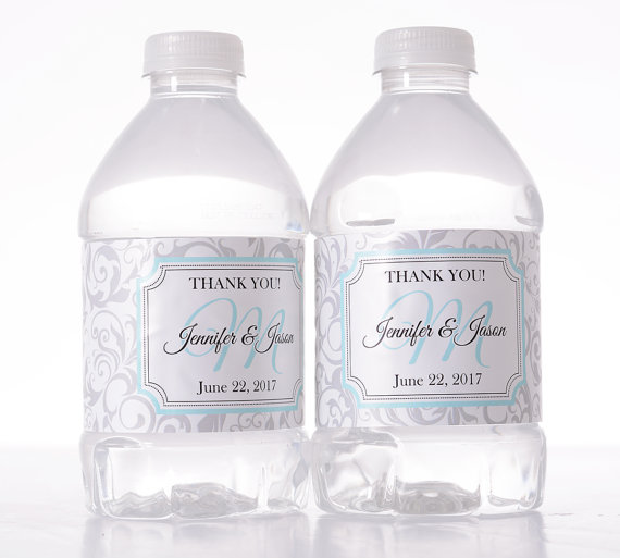 Wedding Water Bottle Labels Wedding Water Labels Custom