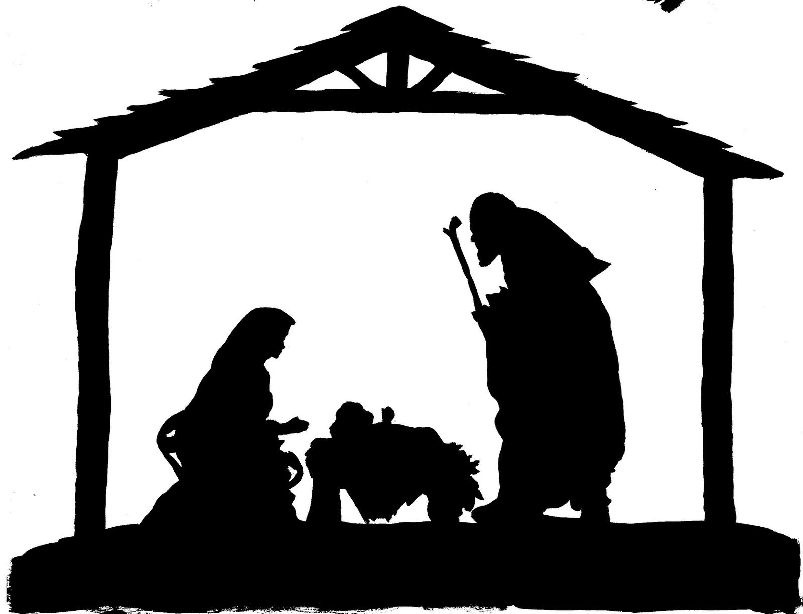 planning for the new year december nativity silhouette and patterns rh pinterest co uk manger clipart images manger clipart black and white
