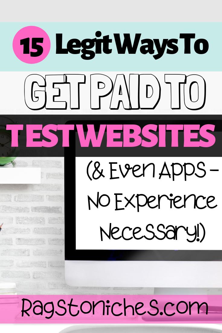 15 Legit Usability Testing Websites Make Extra Cash Online Making Extra Cash Website Testing Jobs Extra Cash Online