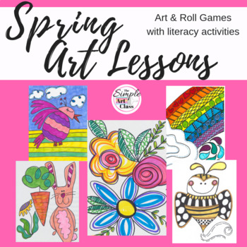 Spring Art Lessons: Art & Roll Bundle (No Prep, Sub Plans)