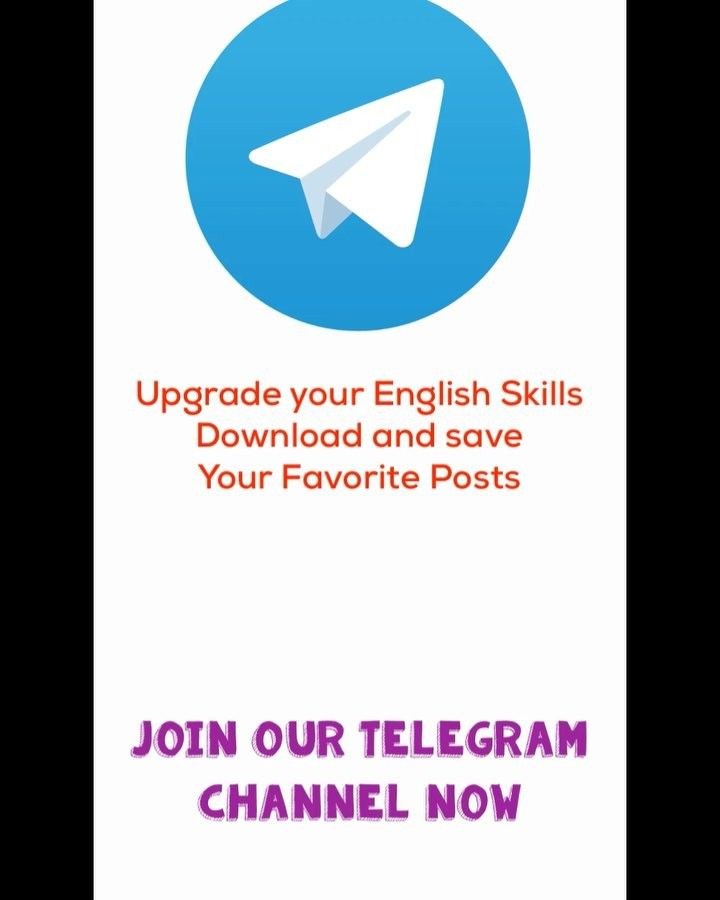 Join our telegram channel get the latest posts and videos upgrade join our telegram channel get the latest posts and videos upgrade your english skills englishvid ccuart Choice Image