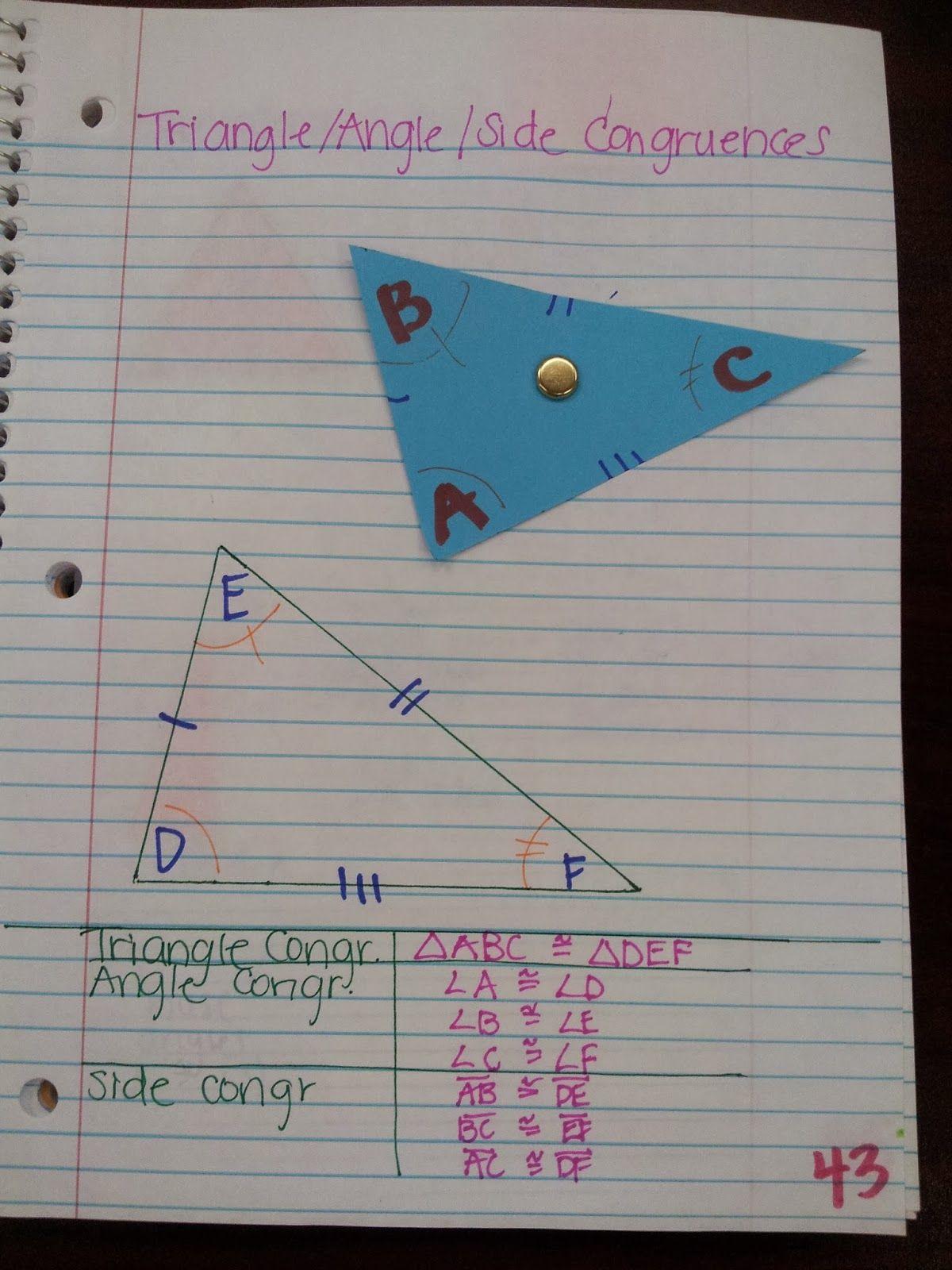 Fresh Ideas - Kelsoe Math Triangles Writing Congruence Statements