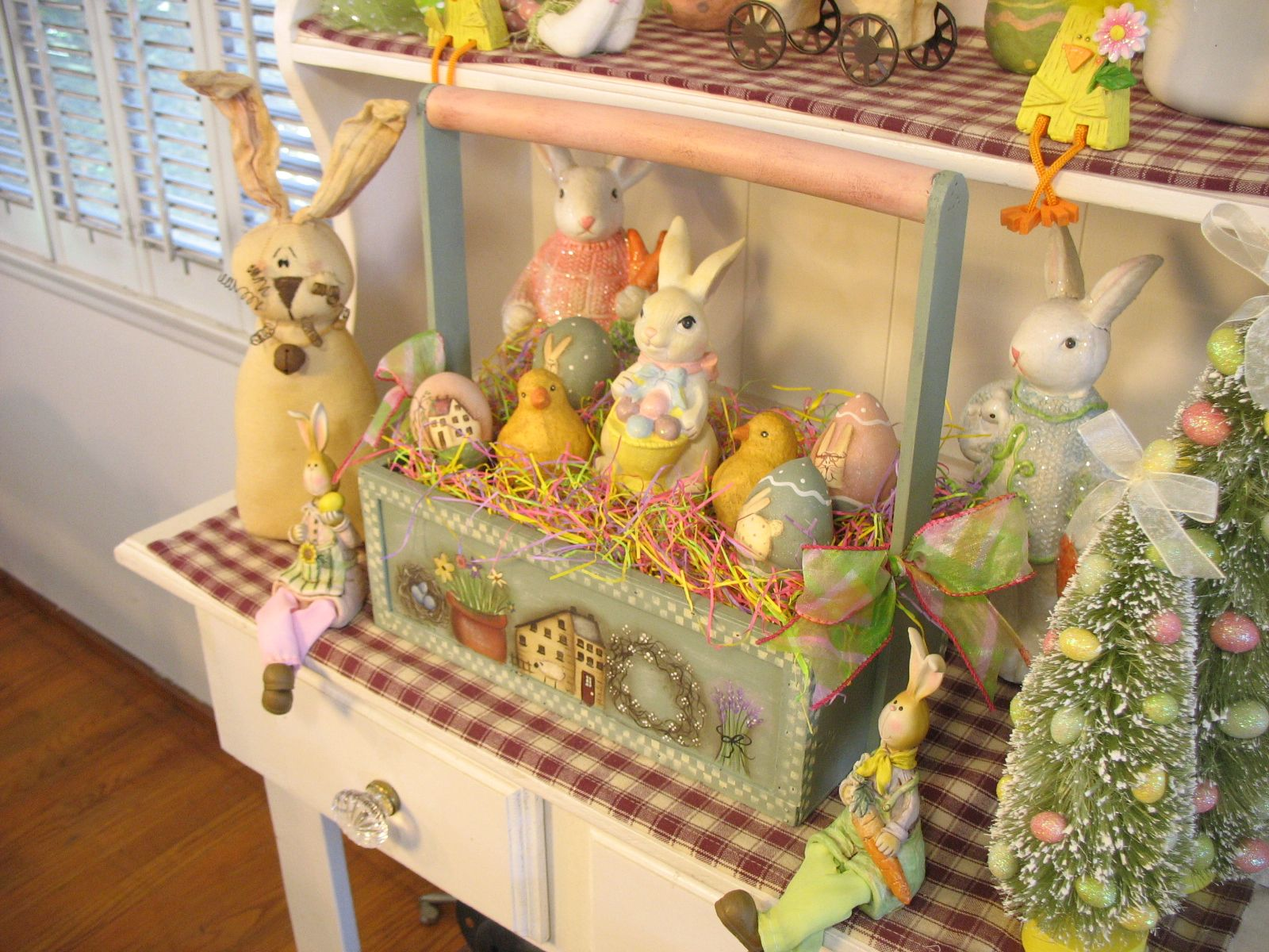 """Welcome to The Bunny World! - 12"""" x 13"""" Wooden Carrier Box"""