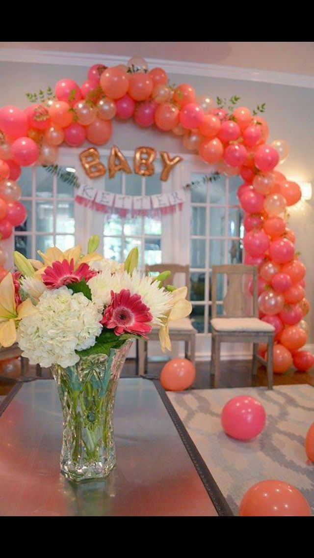 Pin By Shay Love On Bridal Shower | Pinterest | Peach Baby Shower And  Balloon Balloon