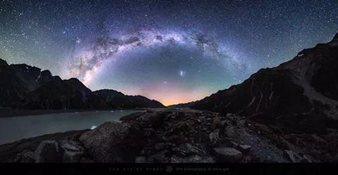 Vía Láctea sobre el parque nacional Monte Cook, Nueva Zelanda.
