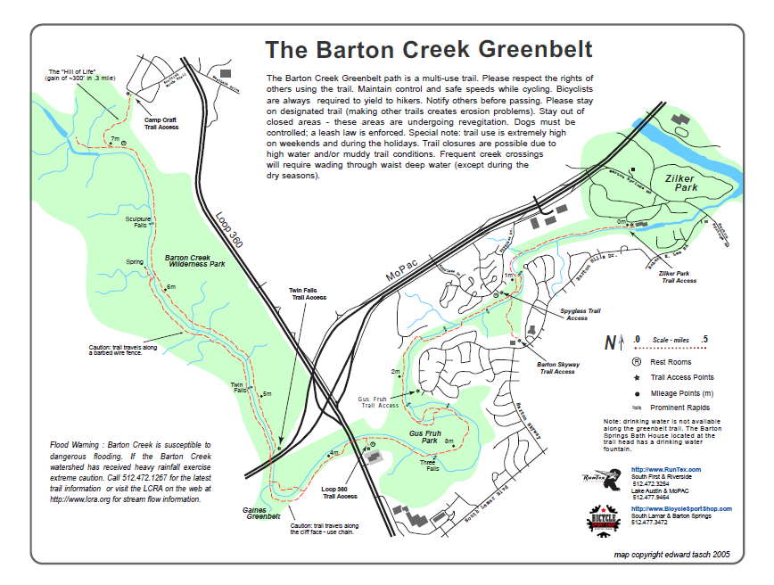 barton creek greenbelt walk hike or bike it more maps