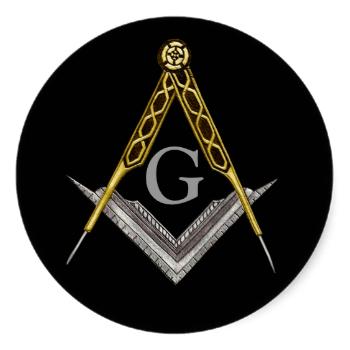 Square And Compass With All Seeing Eye Classic Round Sticker Zazzle Com Masonic Symbols Compass Art Masonic Tattoos