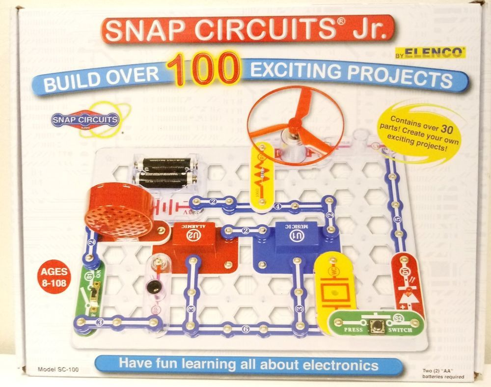 Snap Circuits Jr Electronics Discovery Kit Science Kids Project Learning Toys