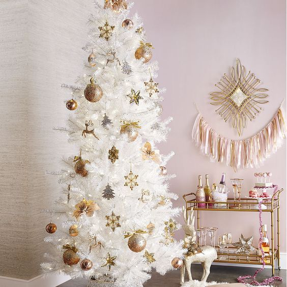 ideas para decorar un rbol de navidad blanco - Arboles De Navidad Blancos
