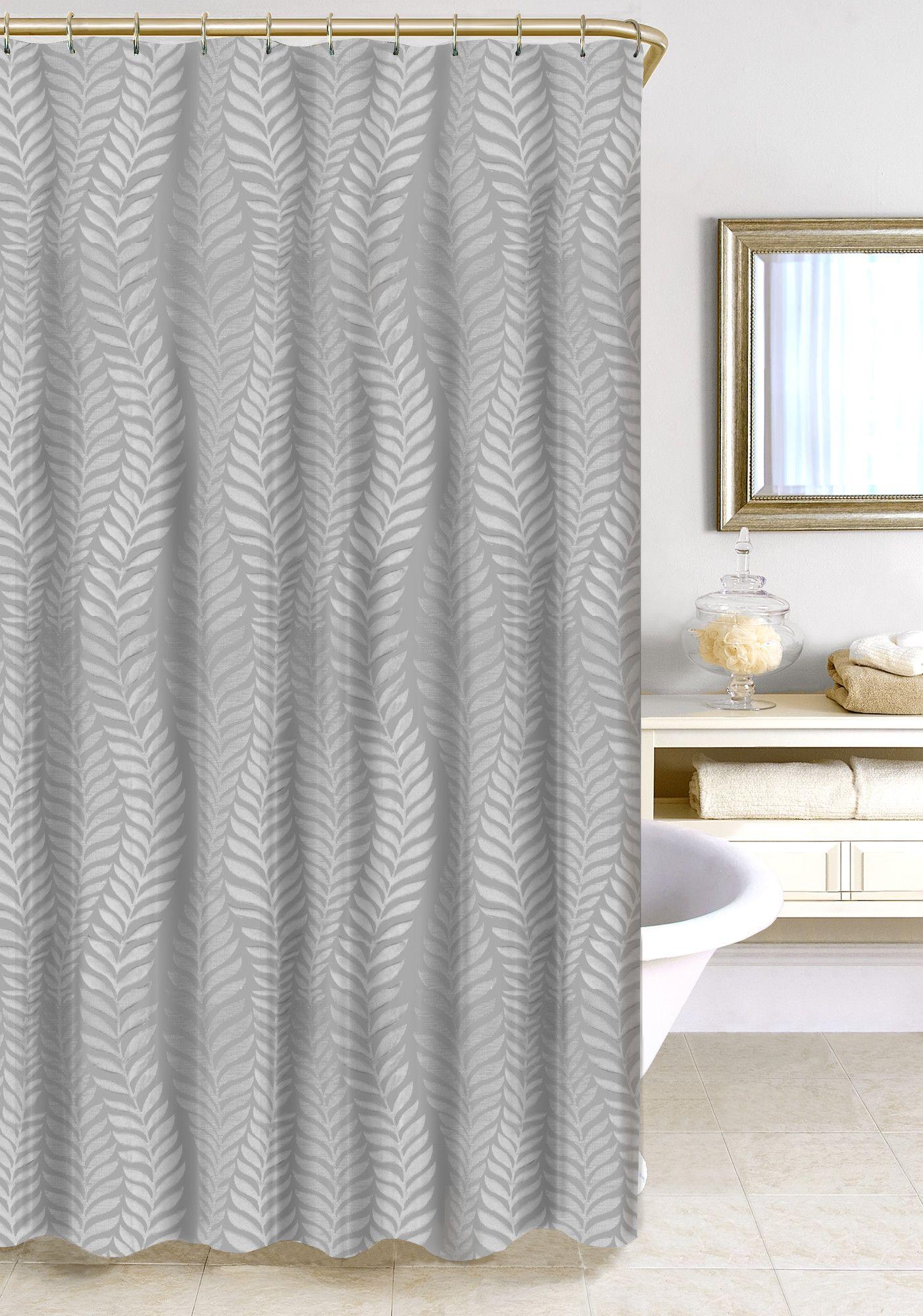Fern Jacquard Shower Curtain