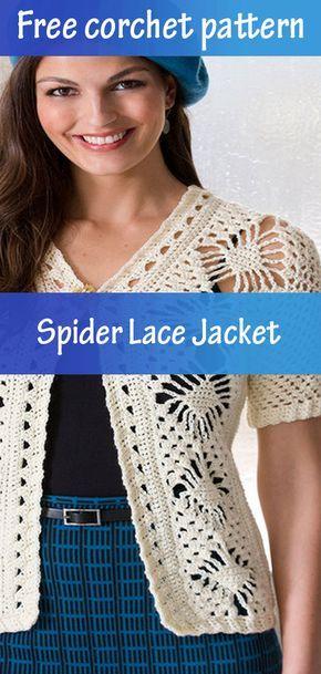 Spider Lace Jacket Crochet Free Crochet Pattern Easy Crochet