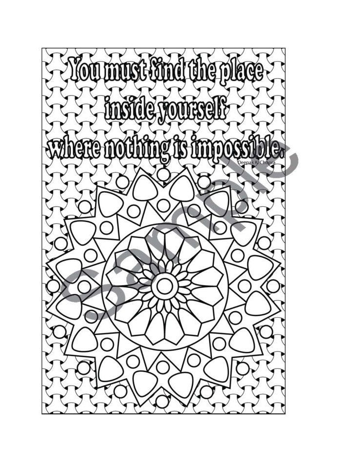 Inspirations Coloring Book - Midori Insert - Digital Template