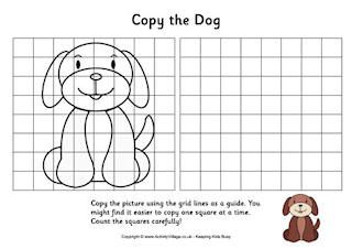Grid Copy Puzzles With Images Drawing For Kids Drawing Grid