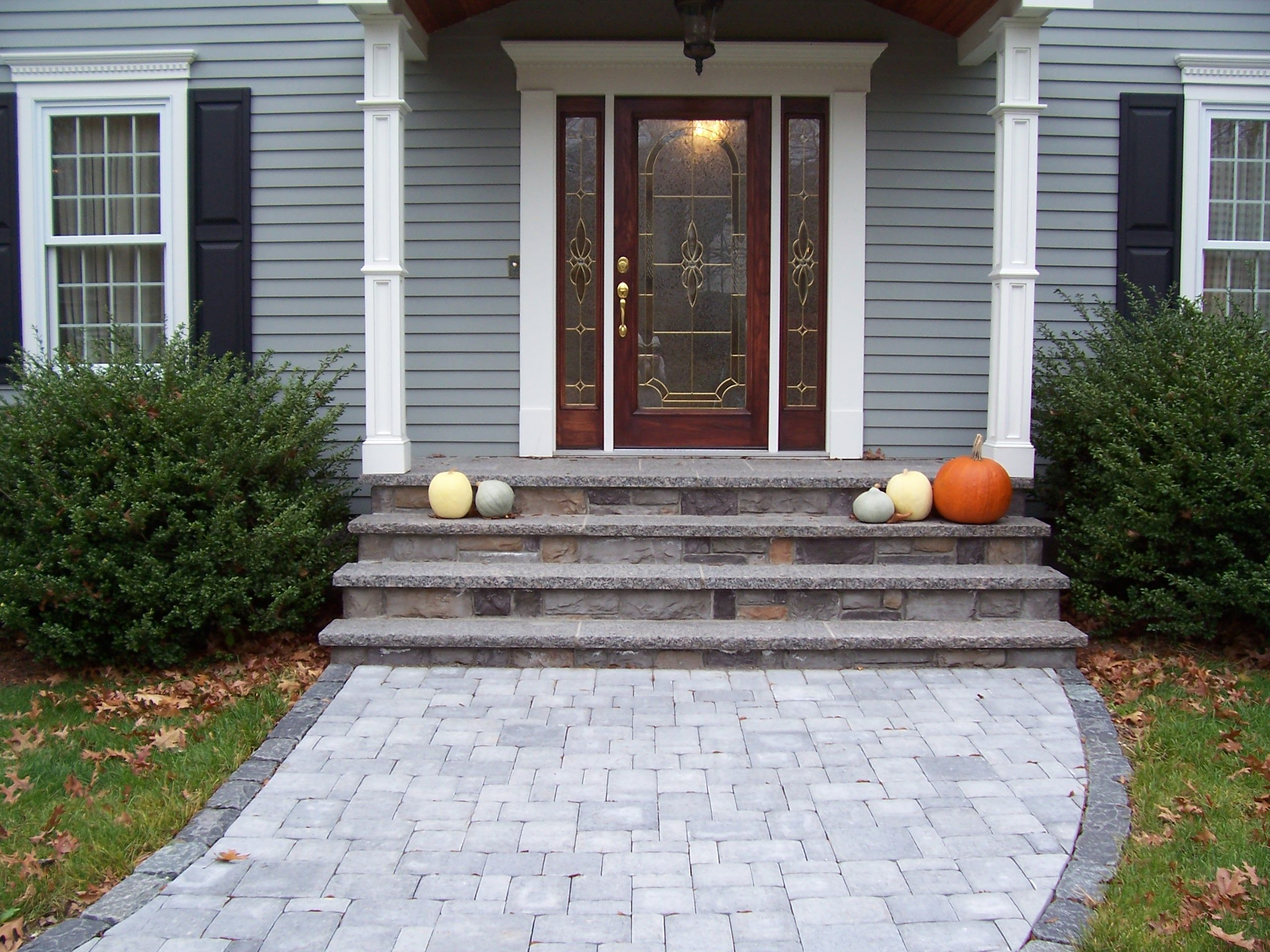 Best Cultured Stone Stairs With Caladonia Treads Bolduc Paver 400 x 300