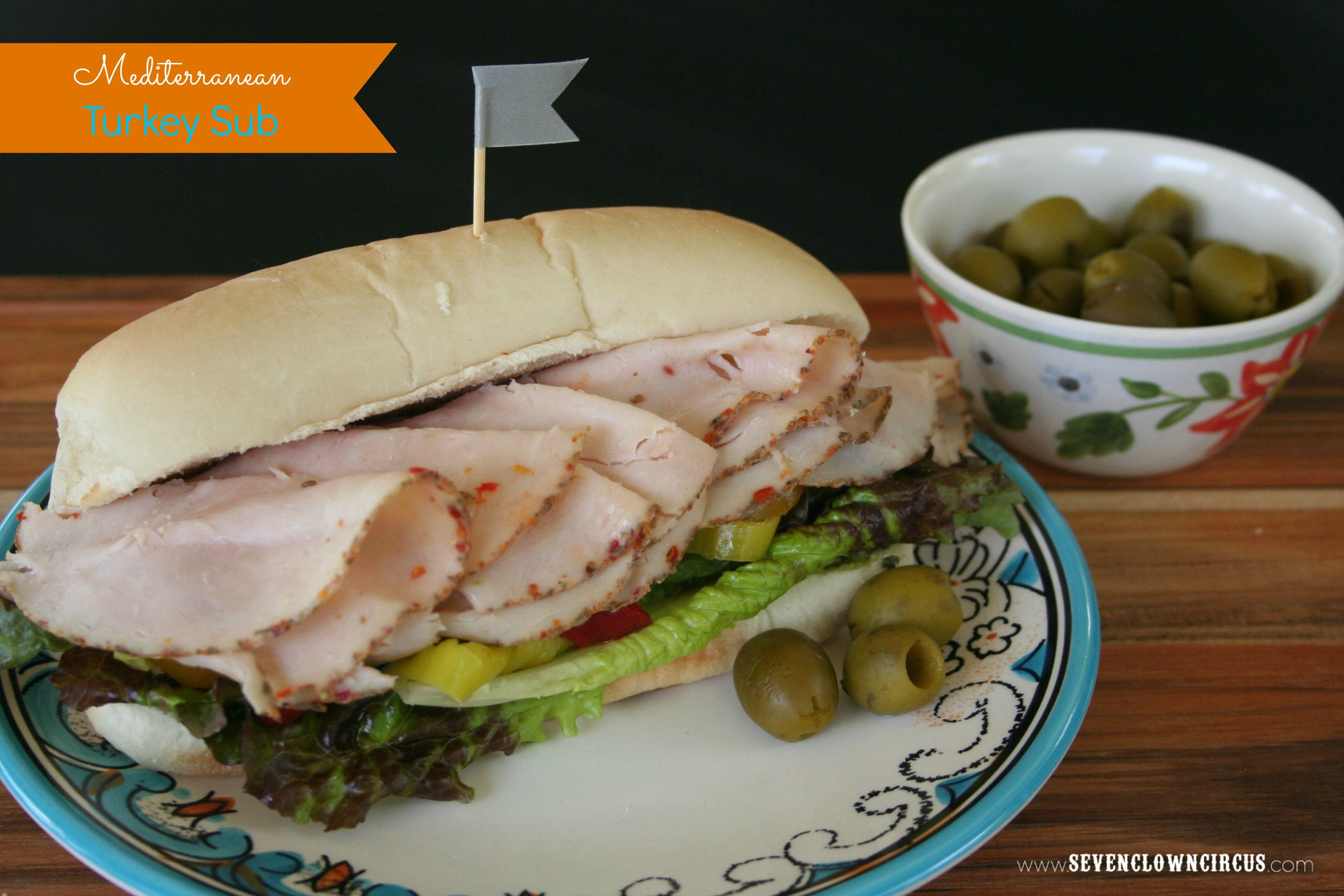 Mediterranean Turkey Sub {recipe} #spon #DeliFreshBOLD