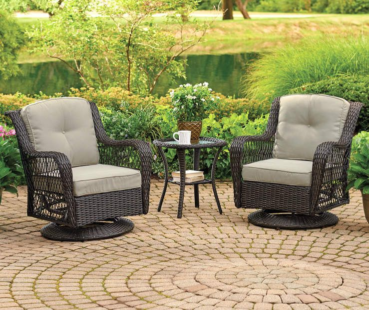 patio glider chairs on Wilson Fisher Tan 4 Piece Replacement Pinehurst Swivel Glider Cushion Set Big Lots Replacement Cushions Outdoor Comfortable Patio Furniture Swivel Glider Chair