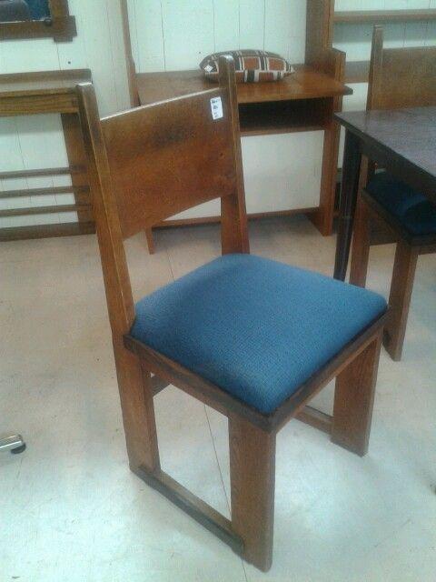 Spiksplinternieuw 4 Schitterende Haagse school stoelen, eikenhout met coromandel OZ-42