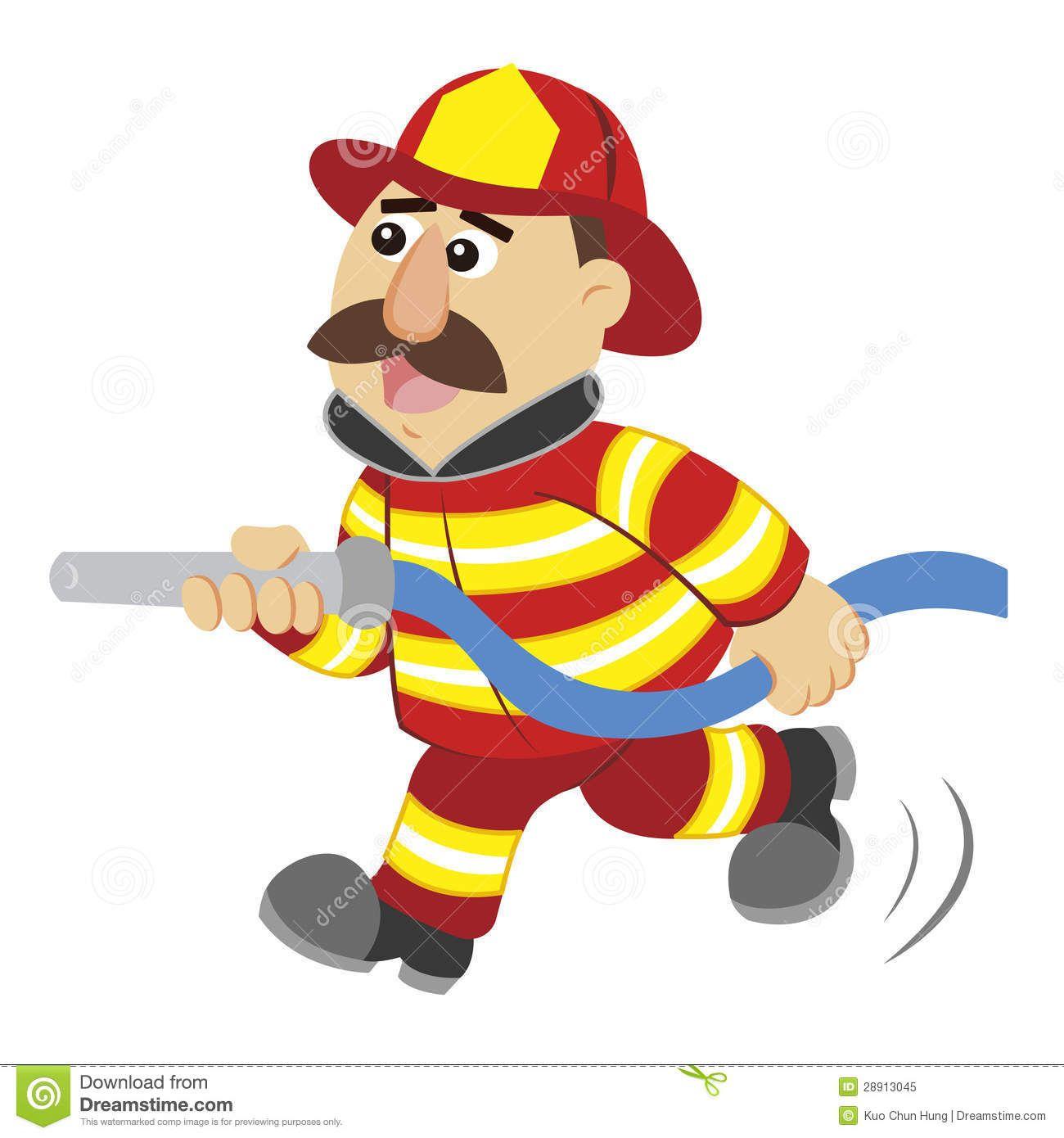 Illustration Cartoon Fireman 28913045 Kids Birthday Cards Fireman Kids Fireman