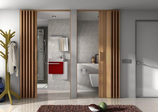 Cómo dividir ambientes de forma sofisticada y moderna separadores - puertas de madera para bao