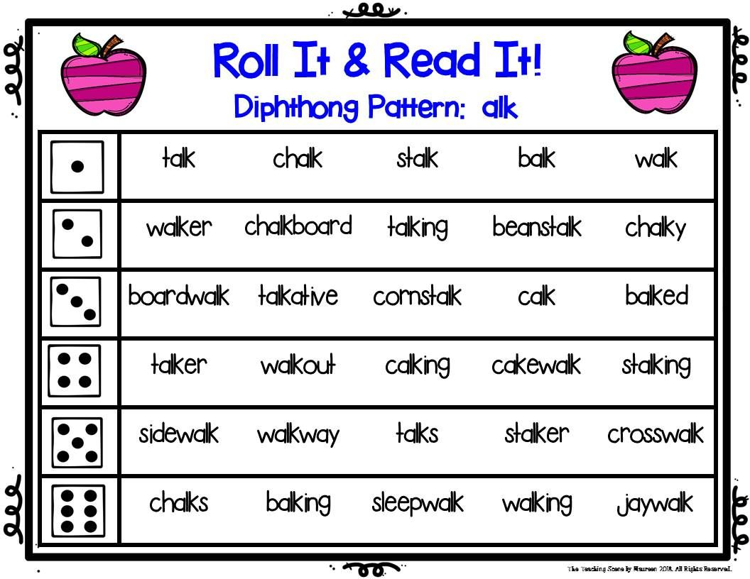Great Phonic Games To Practice Diphthong Pattern Sounds Of All And Alk For 2nd 5th Special Education Home Schoole Phonics Activities Phonics Word Sentences