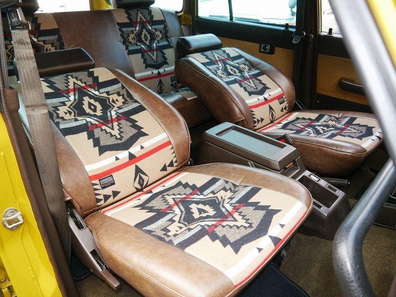 ランクル60 内装シート張り替え ペンドルトン 全体 ランクル60 Mini 内装 シートカバー