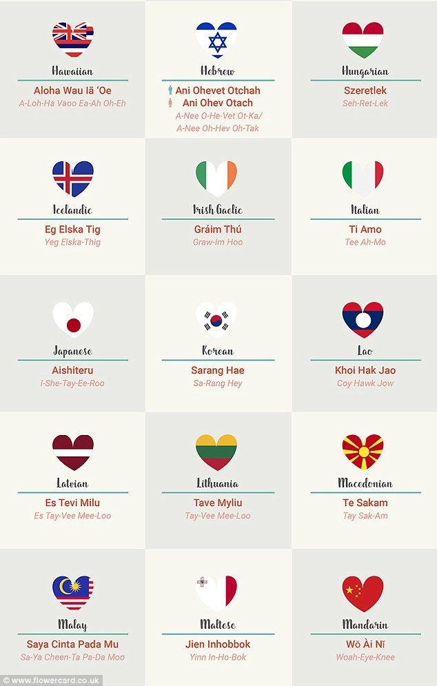 How to say i love you in 5 different languages