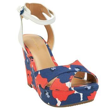 Tommy Hilfiger Veruca II Floral Wedge #VonMaur #TommyHilfiger #Multicolor #AnkleStrap #FloralPrint