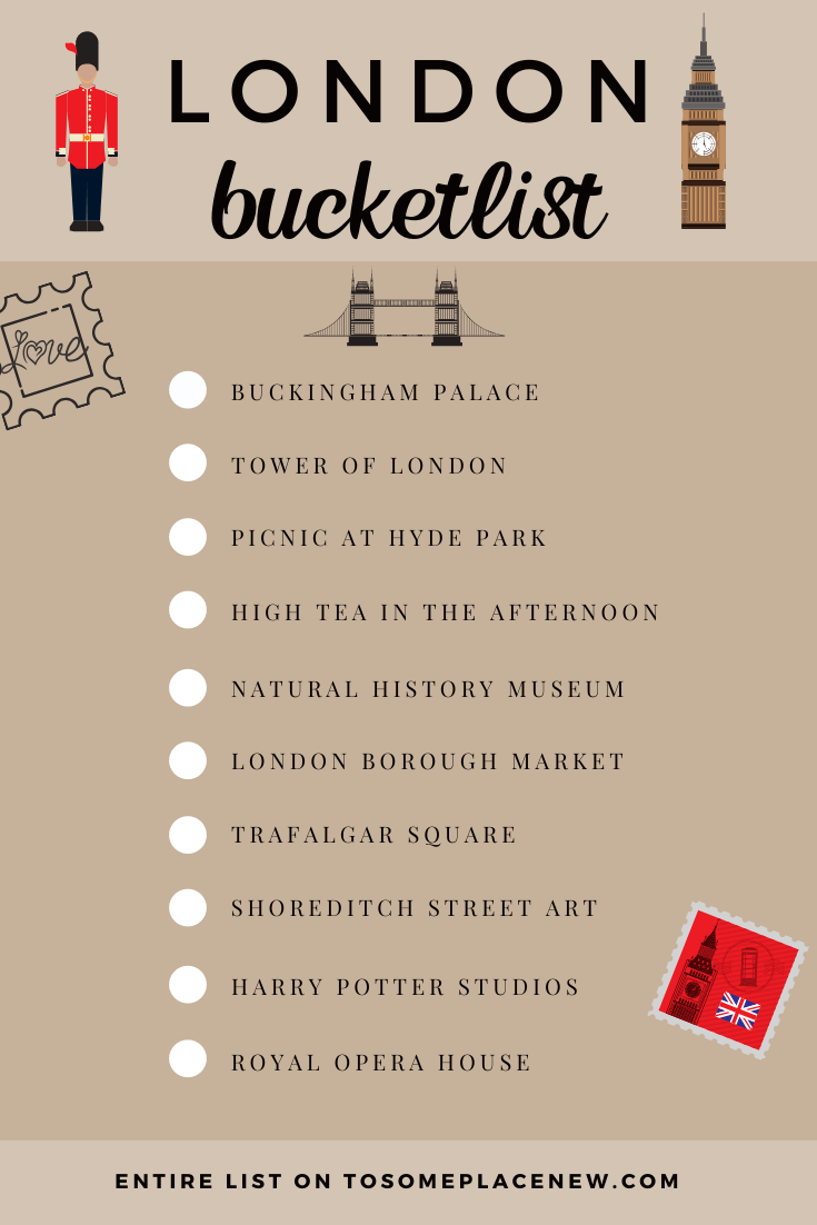 Things to do in London bucket list | Must see places in London | #beautifulplaces to visit in London Tower of London, Buckingham Palace, Harry Potter, Covent Garden and many historical landmarks #london #londonbucketlist