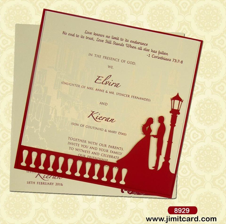 A Beautiful Lasercut Weddingcard At The Bottom Right Corner One