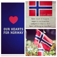 Our hearts for Norway today, in memory of those lost in the violence of July 22 2011