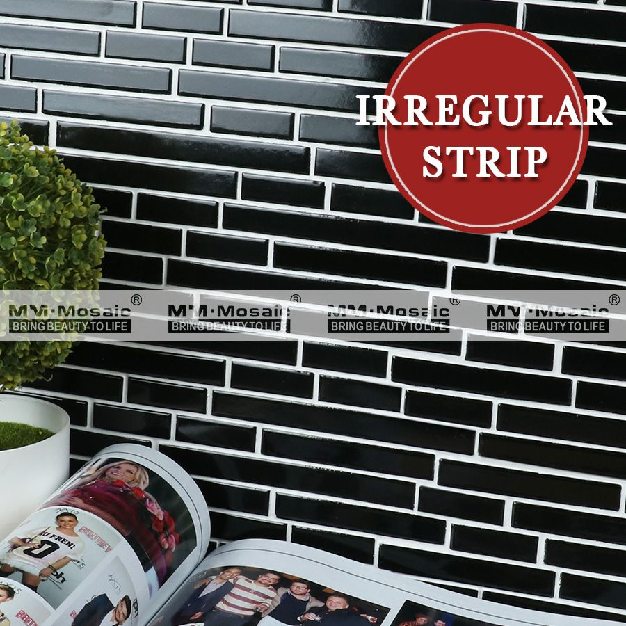 Decorative Wall Tiles Kitchen Backsplash Alluring Irregular Strip Decorative Wall Tile Mosaic Tile Pattern For Design Decoration