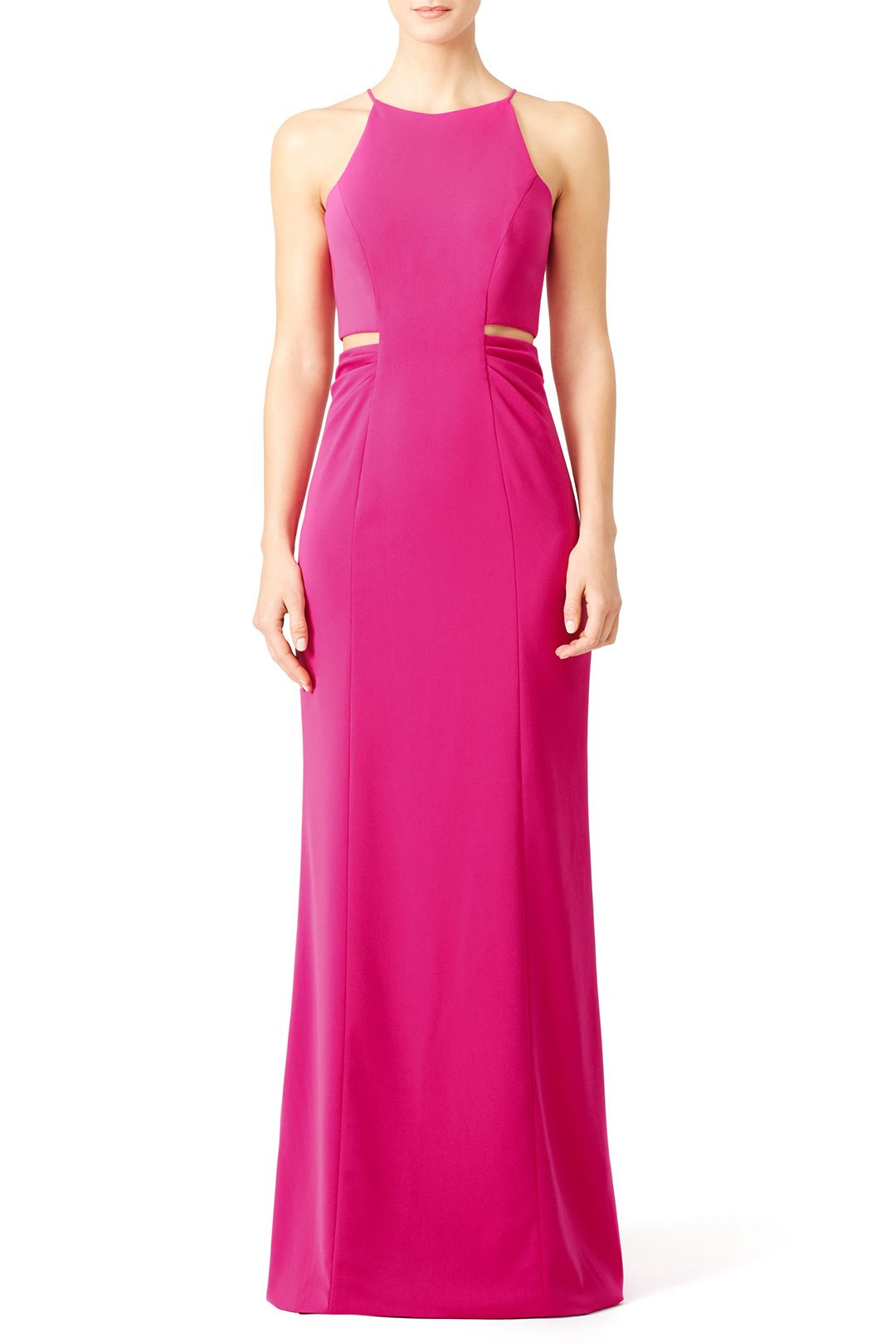 Rent Pink Keena Gown by Badgley Mischka for $100 only at Rent the ...