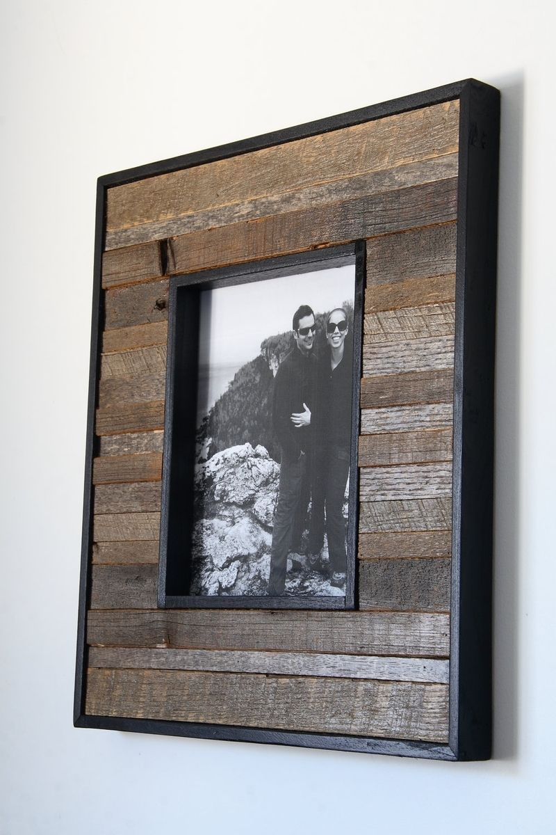 Barn wood picture frame | Reclaimed wood picture frames ...