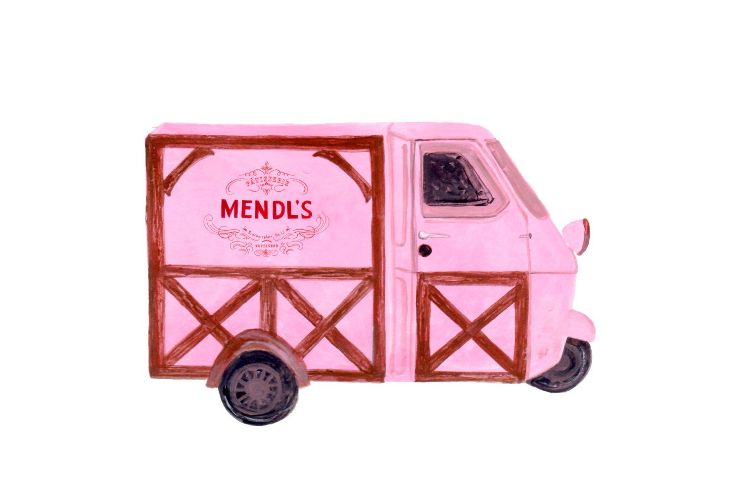 Grand Budapest Hotel Mendl S Truck By Thewhistlingfox On Etsy