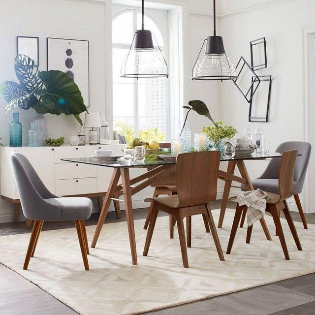 Tropical plants in modern dining room, yes or no? #rumahkudiningroom