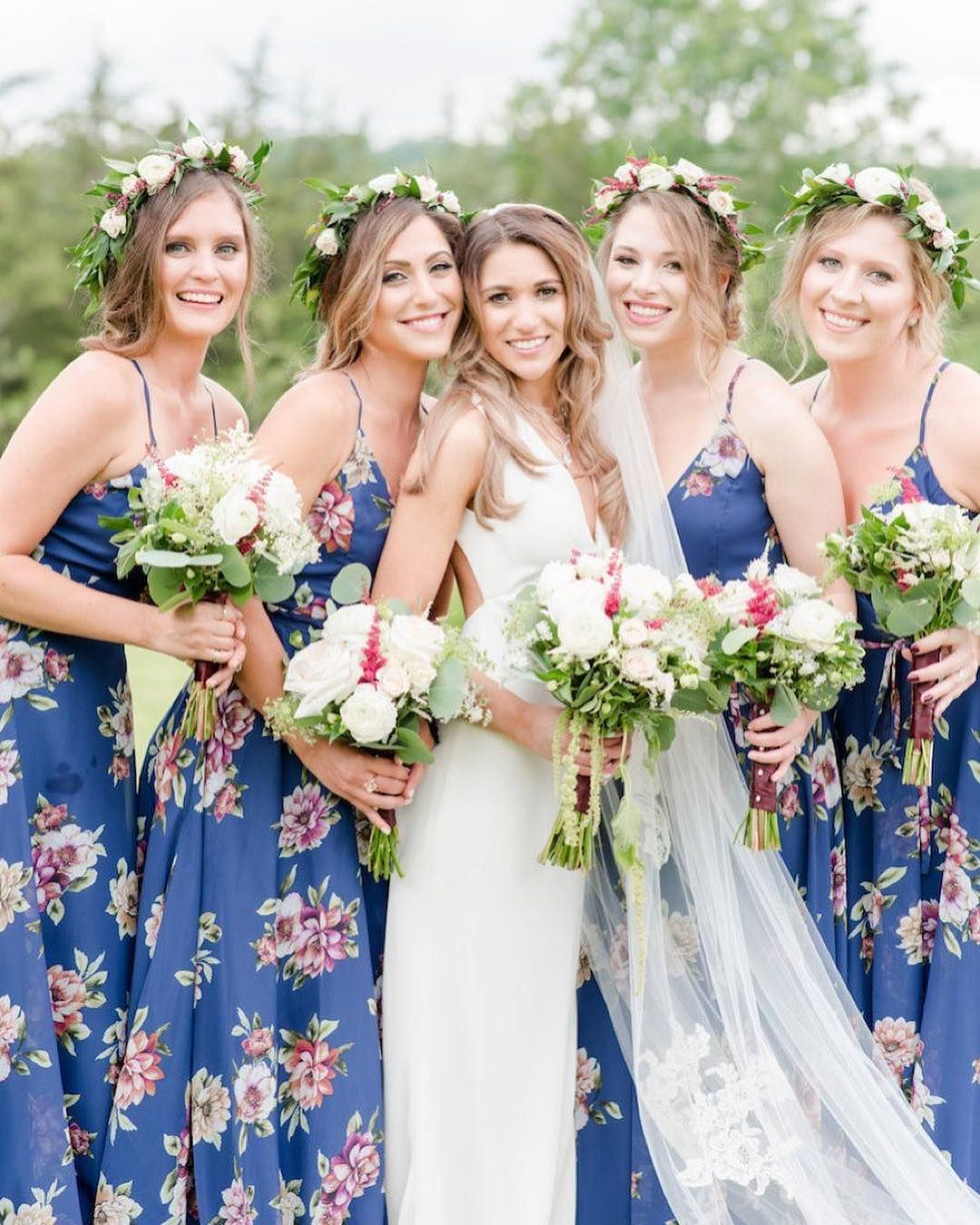 Pretty in Print Bridesmaid Dresses For Any Wedding Style  Printed