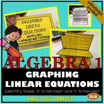 Linear Equations Graphing Slope And Intercepts Practice Booklet