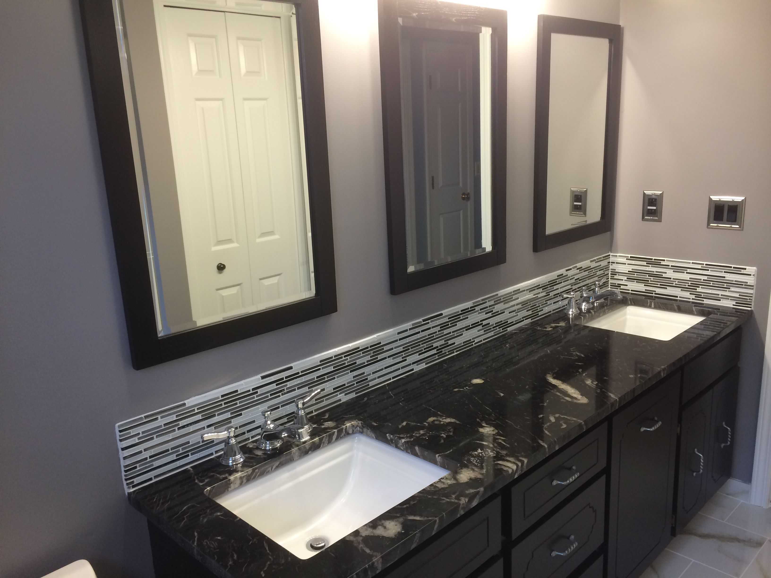 Titanium granite vanity top