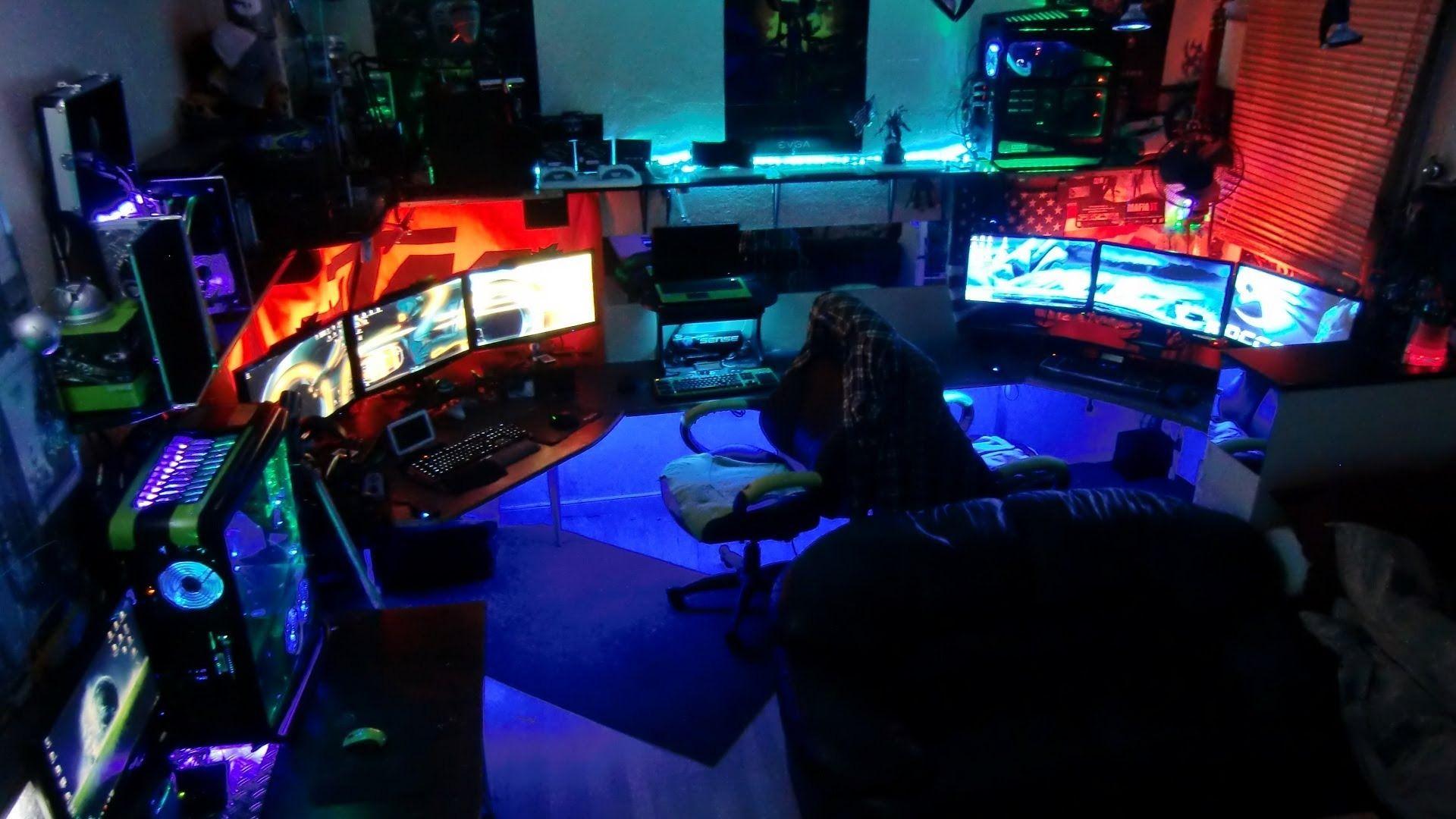 Dopest Pc Gamer Set Up Workstation Holy Shit You