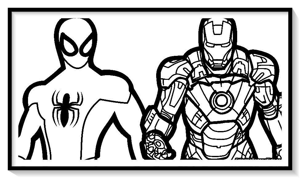 Dibujos De Iron Man Para Colorear En Linea Colorear E Imprimir Ironman Ironman Para P Superhero Coloring Pages Superhero Coloring Spiderman Coloring