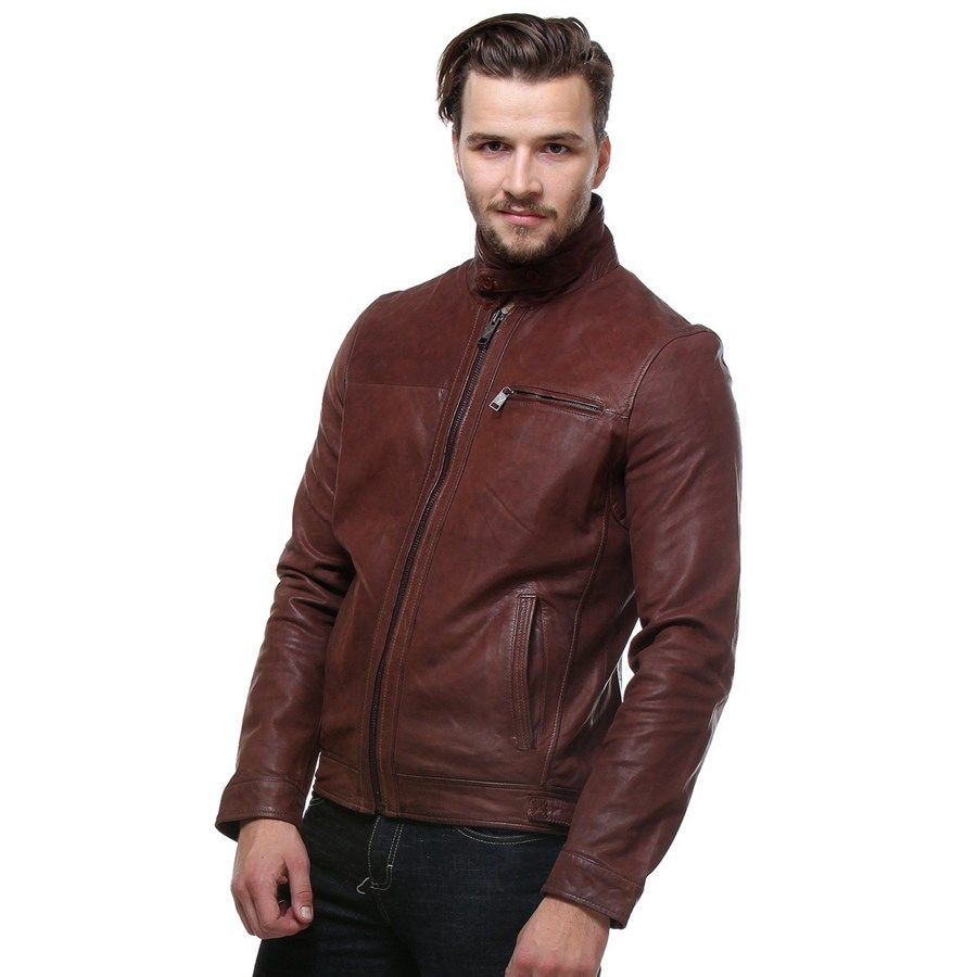 Bareskin Classic Sheep Leather Jacket In Oakwood Color In Regular Fit Jackets Leather Mens Outfits [ 900 x 900 Pixel ]