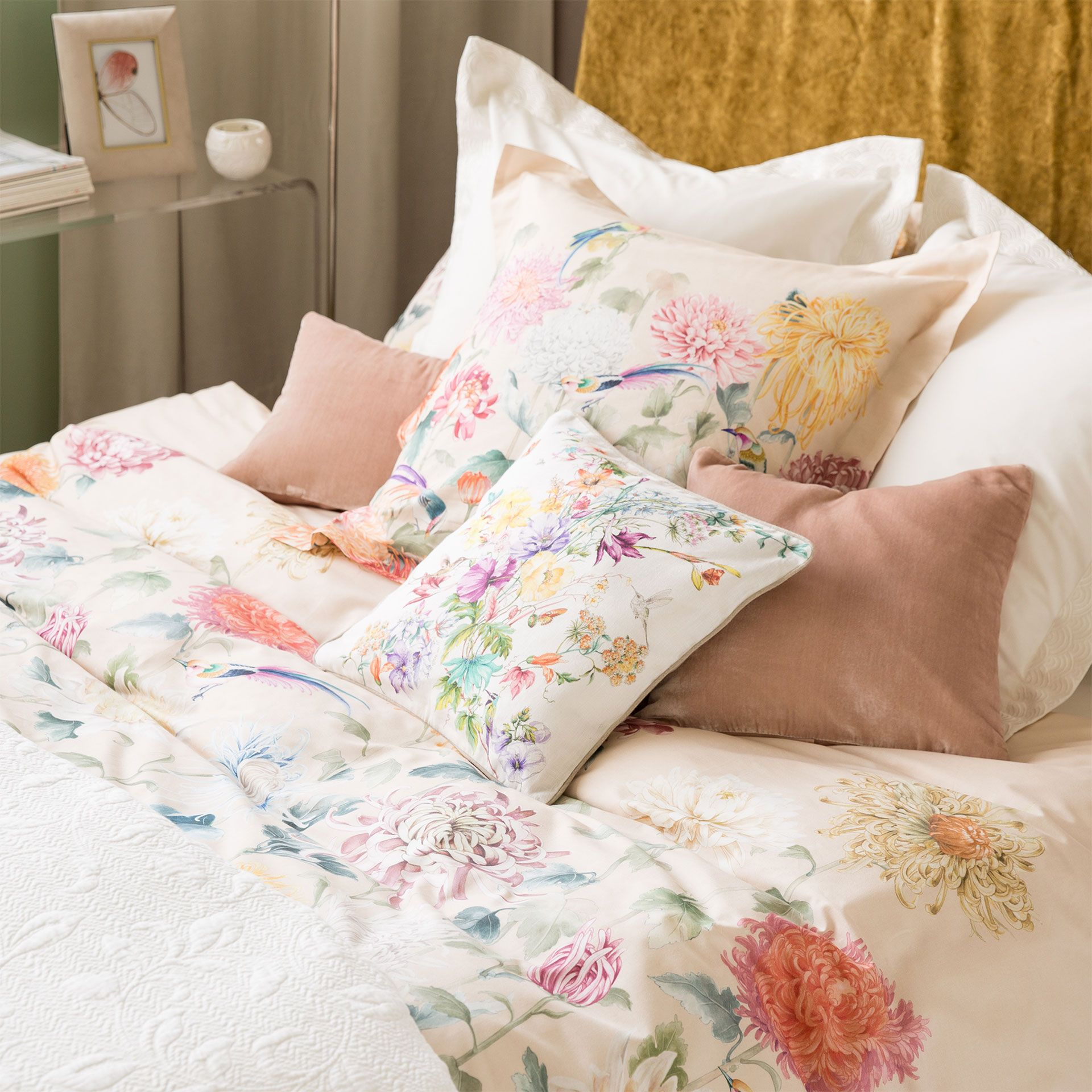 Muebles Zara Funda Nórdica Estampado Crisantemo Cama Zara Home
