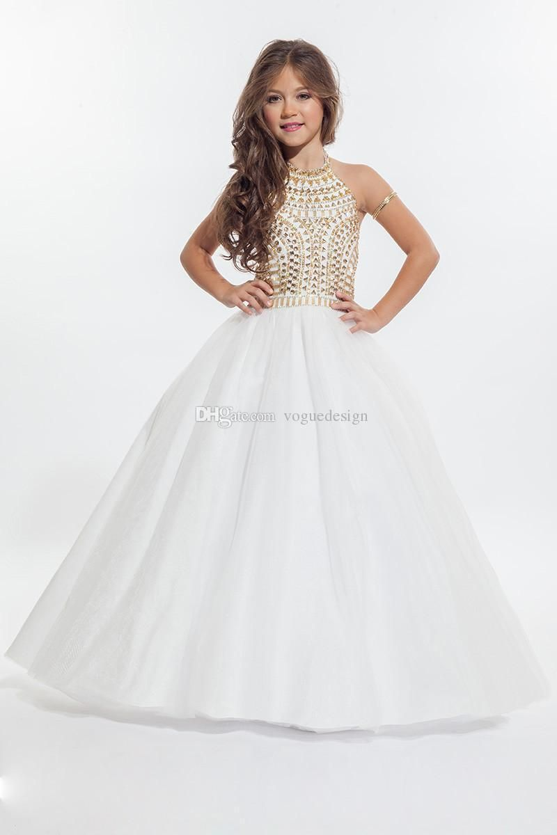 Cheap hot ritzee crystals girls pageant dresses for kid a line cheap hot ritzee crystals girls pageant dresses for kid a line halter beaded backless sweet girls gowns for party communion gown as low as 9259 ombrellifo Choice Image