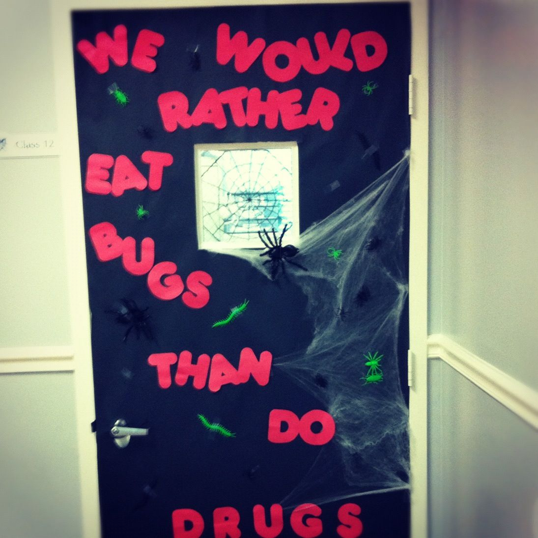 Red Ribbon Week Halloween Door Decoration