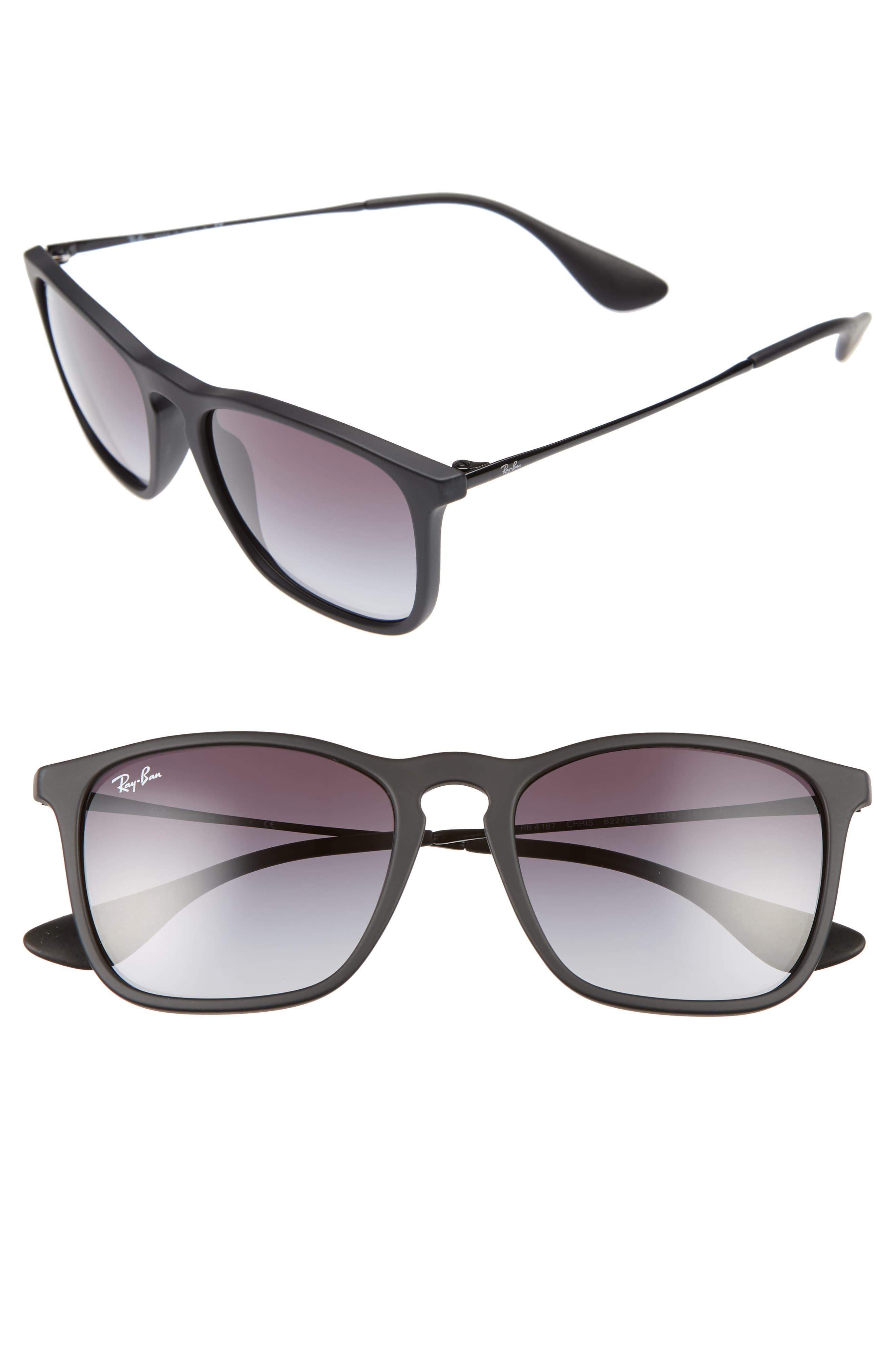 Ray Ban Chris 54mm Gradient Lens Sunglasses Nordstrom Sunglasses Ray Bans Mens Accessories