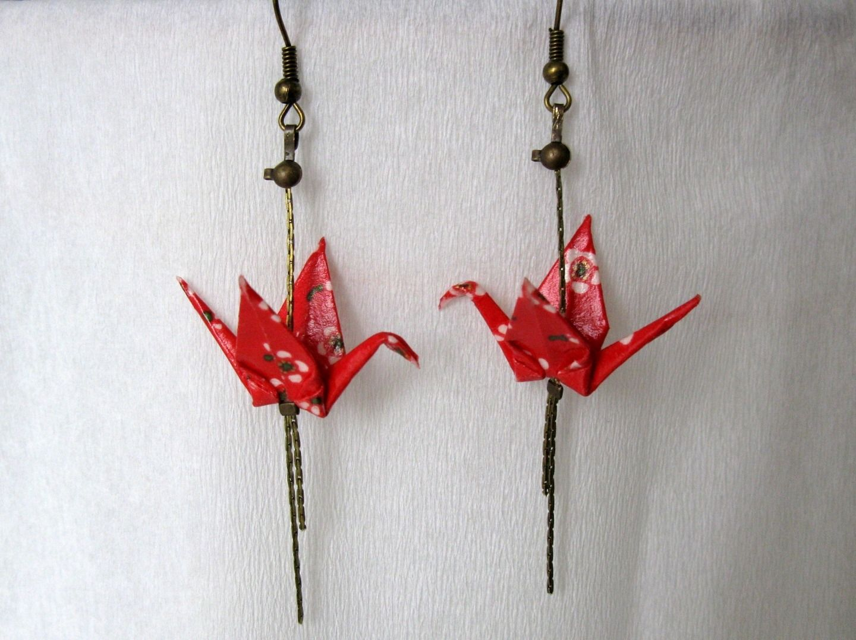 boucle d'oreilles origami