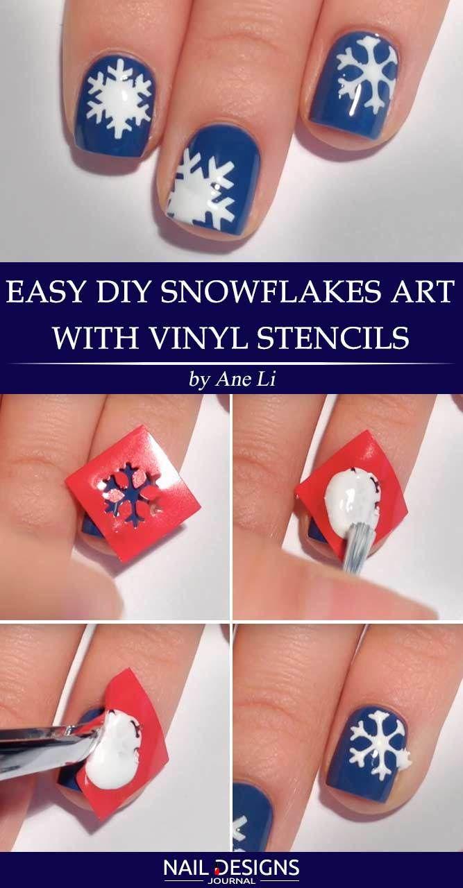 7 Tutorials On Snowflake Nails Designs Snowflake Nail Design