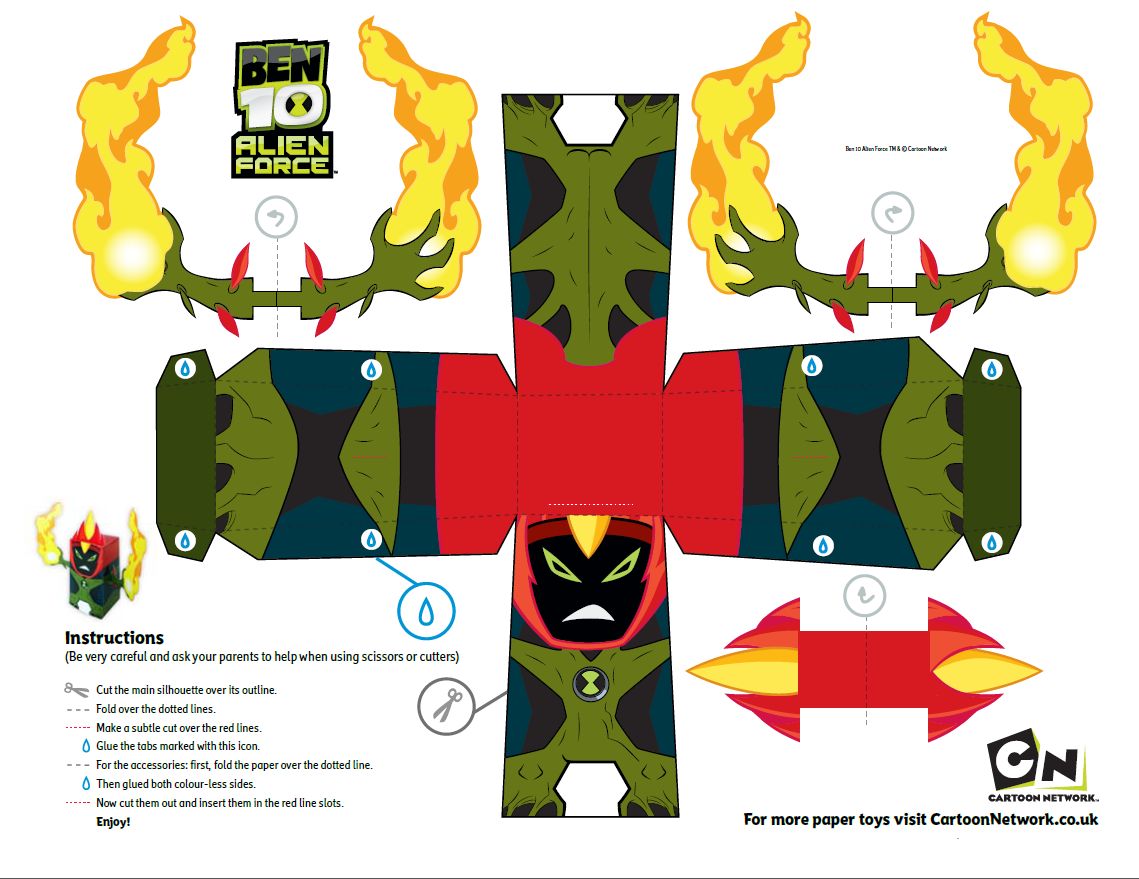Pin by Crafty Annabelle on Ben 10 Printables | Pinterest | Ben 10 ...