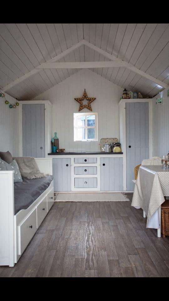 Custom-made beach hut interiors
