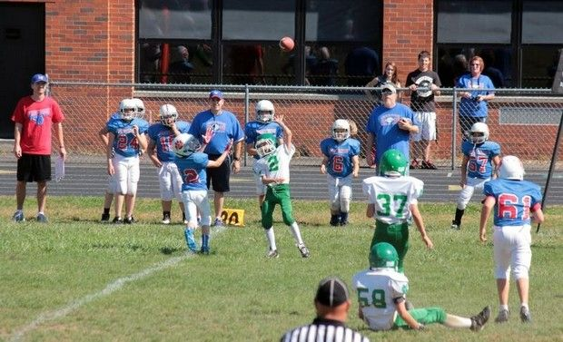 Newark Catholic plays Licking Valley Blue at NC White in the Licking County League Youth Football game.